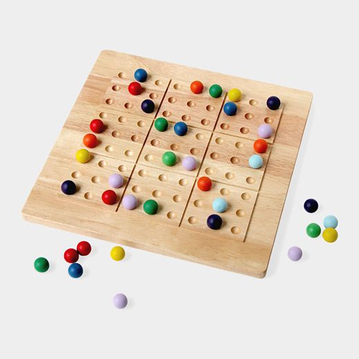 "Colour instead of number - ""Colorku Game"", wooden board game based on sudoku"