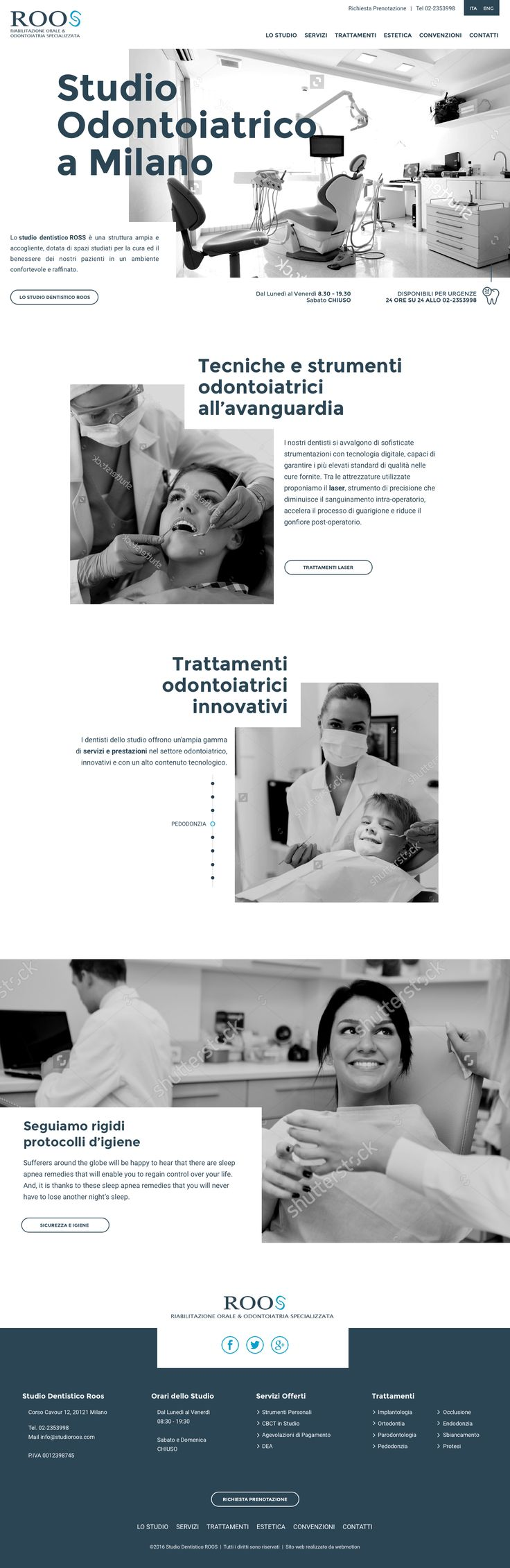 Website for a dental practice in Milan (Italy) #webdesign #UIdesign