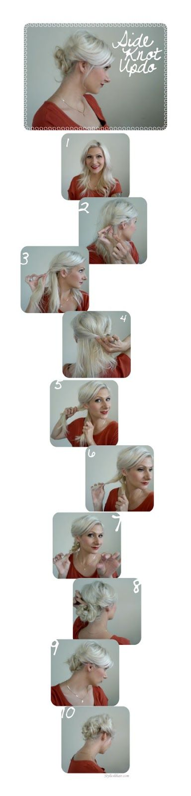 Love this side knot updo tutorial from @Jenny Strebe ;)