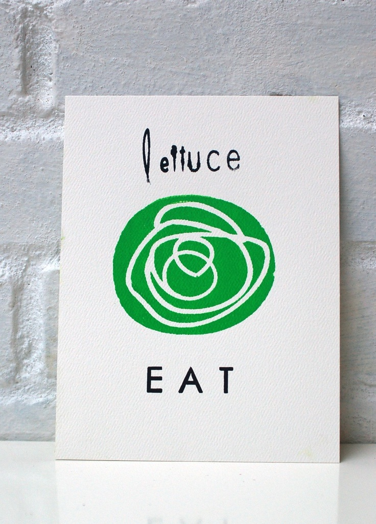 Lettuce EAT // can we just have this tagline :D