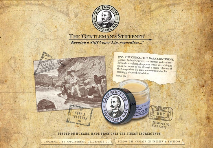 Captain Fawcett's Moustache Wax website
