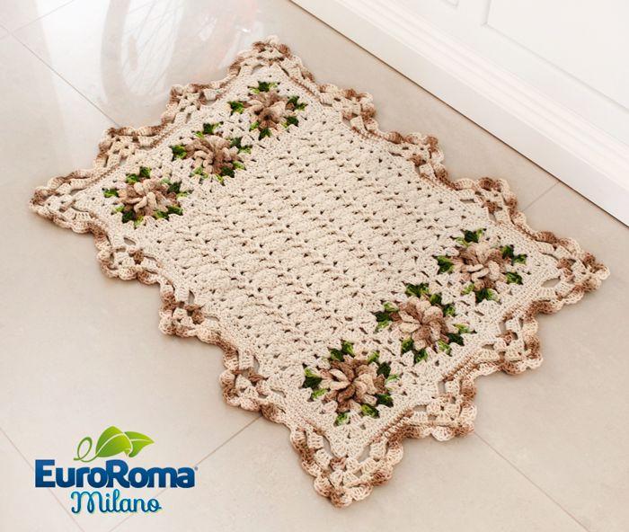 Tapete de Crochê Floratta por EuroRoma