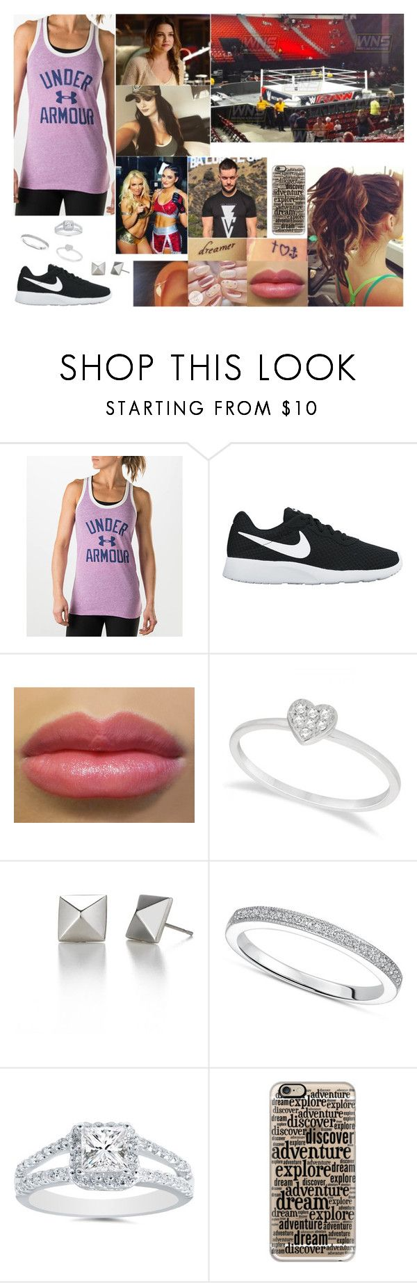 """""I Don't Need Your Concern..."" (Description)"" by samanthanicole39 ❤ liked on Polyvore featuring Under Armour, NIKE, Allurez, WWE and Casetify"