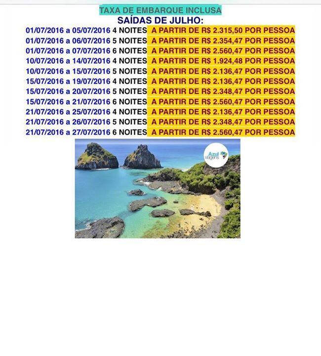 Promoção para Fernando de Noronha Inclui: Passagem aérea Ida e volta desde Florianópolis + hospedagem na pousada Da Mana e traslados