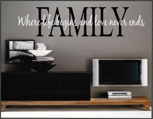 Vinyl Wall Quotes Words Family Life Begins