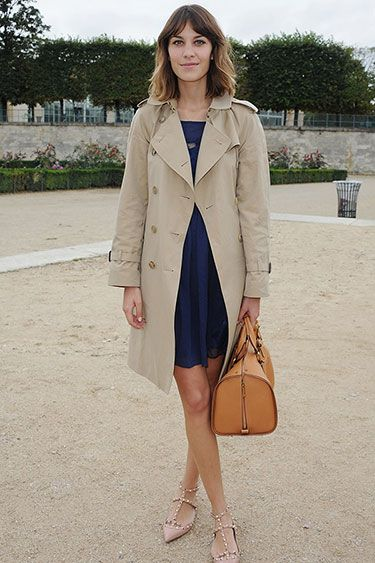 In the Trenches: Celebrity Trench Coats Through the Years - Alexa Chung, 2010