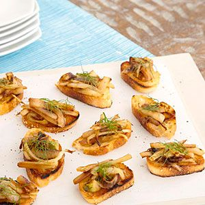 Caramelized Onion and Fennel Crostini   MyRecipes.com