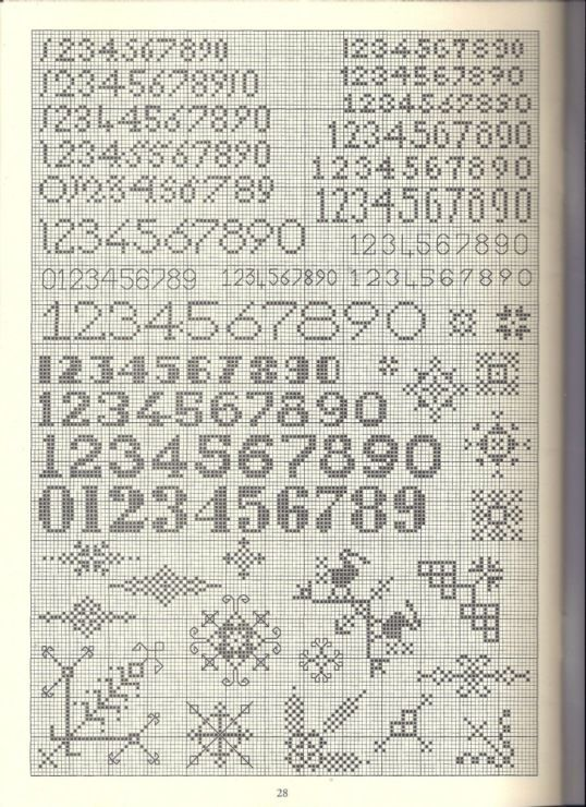 Cross Stitch numbers and decals.