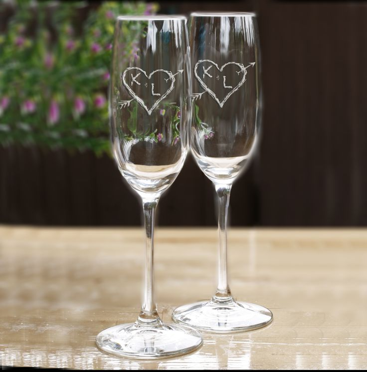 Our Personalized Engraved Wedding Toasting Flutes Are A Cool Champagne Gl For The Party Or