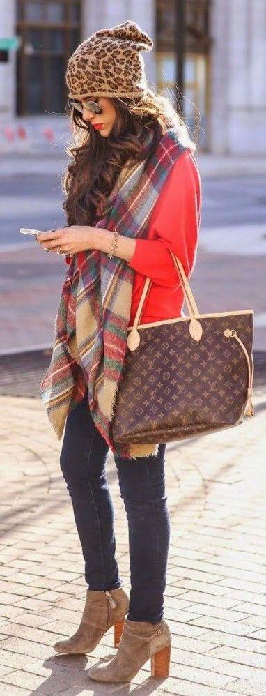 #fall #fashion / leopard print beanie