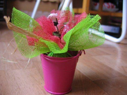 Décorations rose (fushia) et vert (anis) - IDÉES de CENTRES de TABLES : Album photo - aufeminin.com : Album photo - aufeminin.com - aufeminin