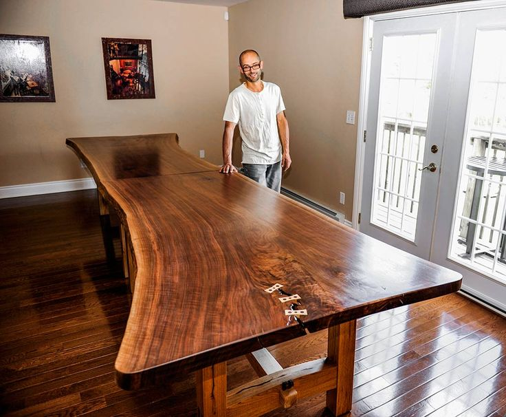 1000 Images About Live Edge Wood Slab Table On Pinterest