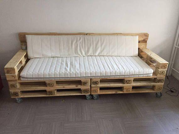 Living Room Couch Industrial Pallet Salon En Palettes Canape Palette Meubles De Patio