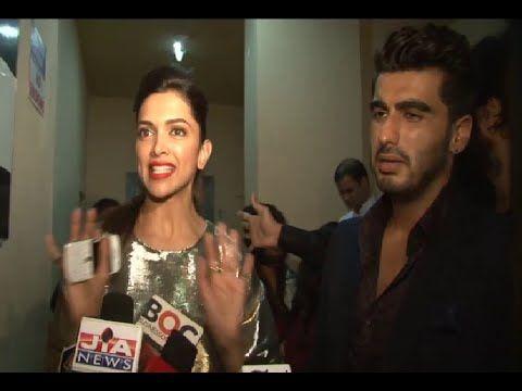 Dumb media reporter asking Deepika Padukone a stupid question.