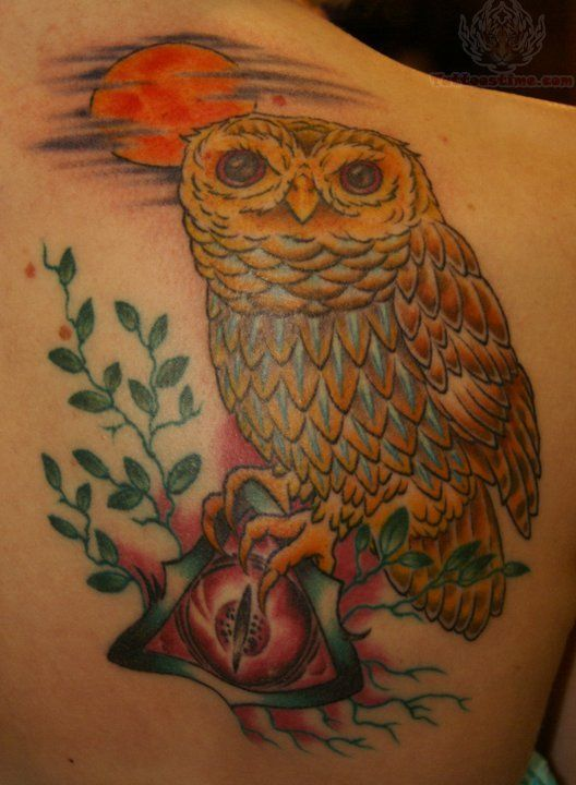 red moon tattoo - photo #24