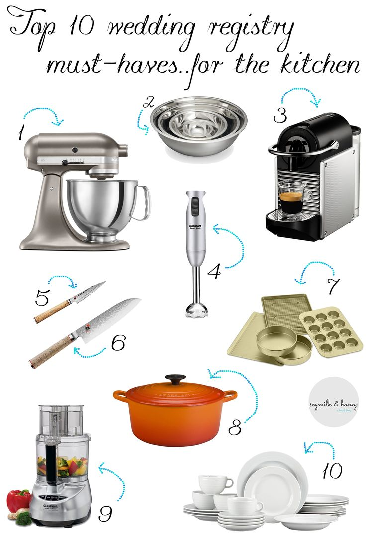 11 best wedding gift images on pinterest wedding registry a guide for wedding registries top 10 wedding registry must haves for the kitchen junglespirit Images