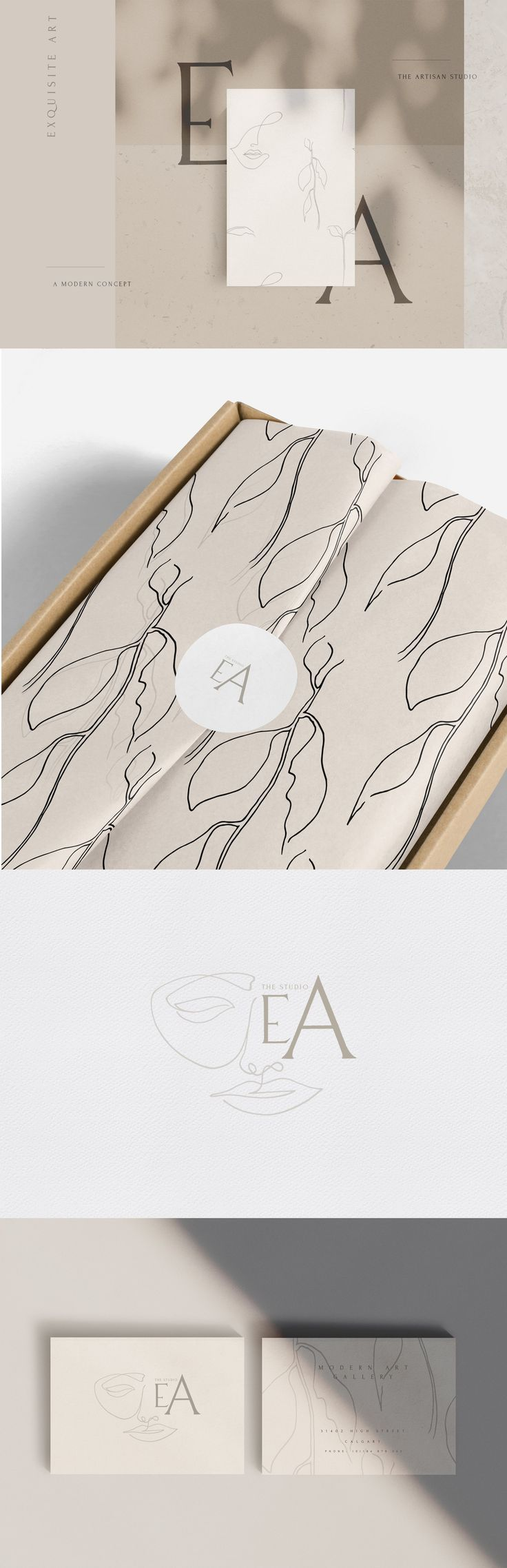 Modern Minimalist Abstract Bundle. The Exquisite A…