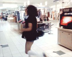 In the mall, with a tenacious fiery spirit of twerk: