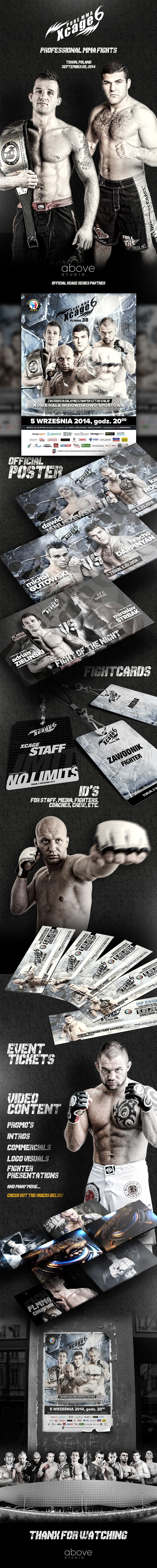 Graphics, print & motion design for organizers of Pure MMA XCage 6 - professional MMA event in Torun, Poland.