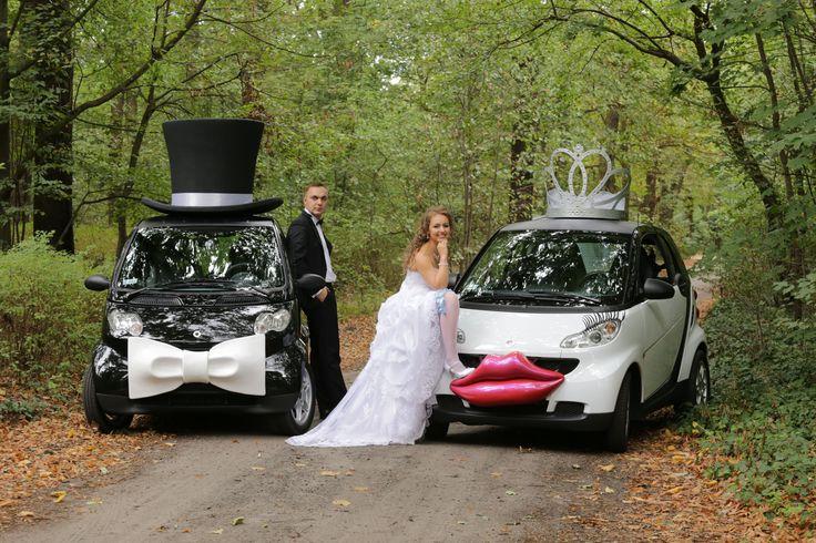 weddingcar marry wedding married smartcar  WWW.SMART-LINE.PL