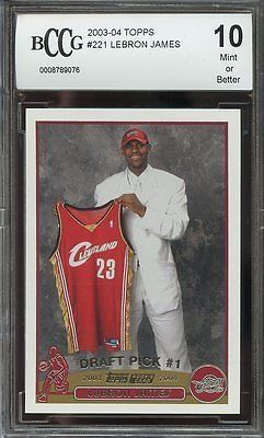 cool 2003-04 topps #221 LEBRON JAMES cleveland cavaliers rookie card BGS BCCG 10 - For Sale View more at http://shipperscentral.com/wp/product/2003-04-topps-221-lebron-james-cleveland-cavaliers-rookie-card-bgs-bccg-10-for-sale/