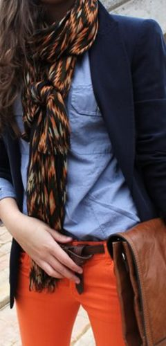 Tommy Hilfiger...love the scarf, the belt, the chinos...the...the...the...oooh i love everything!!!