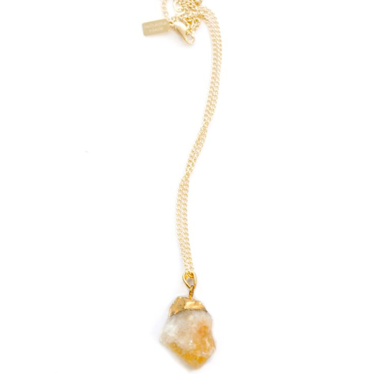 Talk about glittering in gold. This Citrine Pendant Necklace is so shiny and fun. This is my new everyday piece!