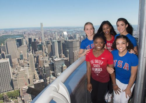 The Final Five at the top of the Empire State Building!