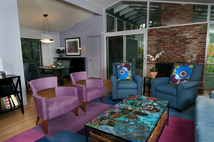 Peacock Purple Living Room For The Home Pinterest