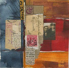 collage watercolor artist, artist, santa barbara, california artist,