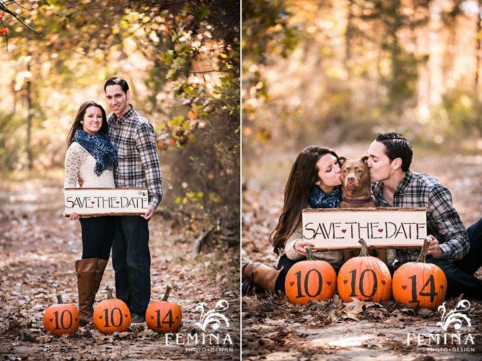 Fall Save the Date ideas. Engagement Photo Shoot. | Photo by: Femina Photo & Design (www.feminaphoto.com)