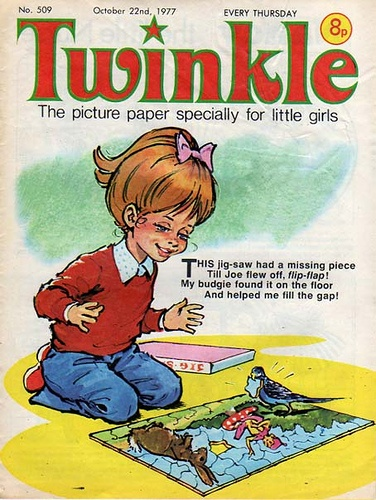'Twinkle' My favourite girls comic when I was growing up. Loved it!