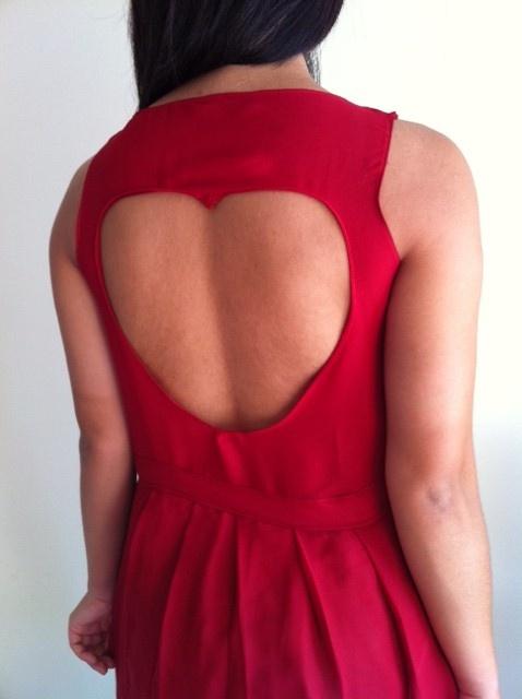 Homemade heart dress
