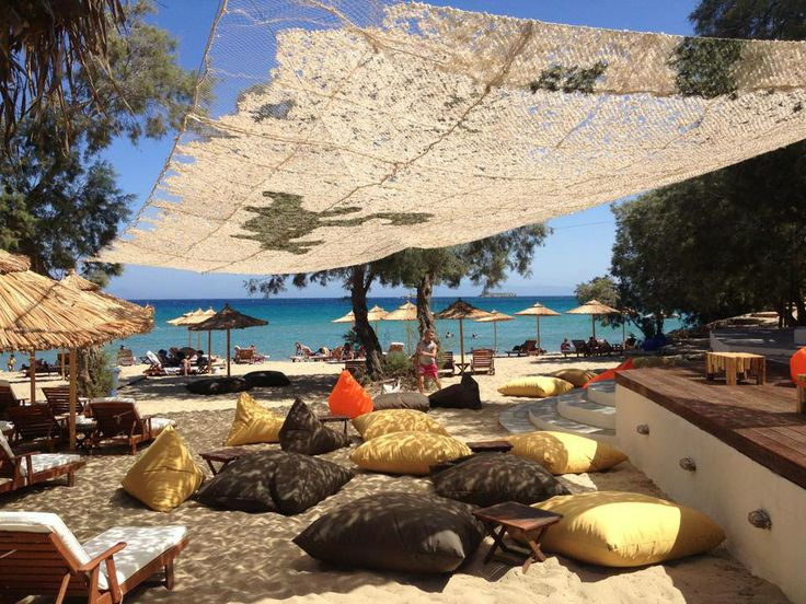 poofomania@Punda Beach# Πάρος##bean bag outdoor#beach#