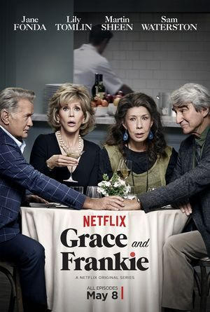 Grace and Frankie (Netflix-May 8, 2015-Present) -a comedy TV series created by Marta Kauffman, Howard J. Morris. Storyline surrounds finding out that their husbands are not just work partners, but have also been romantically involved for the last 20 years, two women with an already strained relationship try to cope with the circumstances together. Stars: Jane Fonda, Lily Tomlin, Sam Waterston.