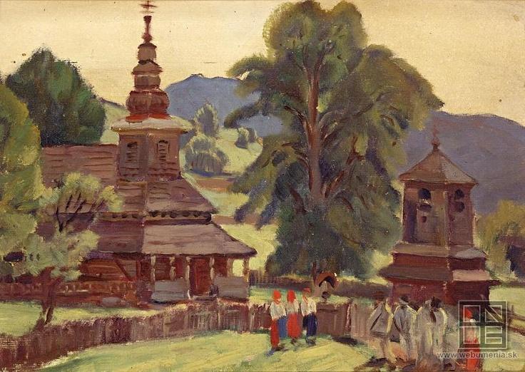 Martin Benka, Pred kostolom 1926