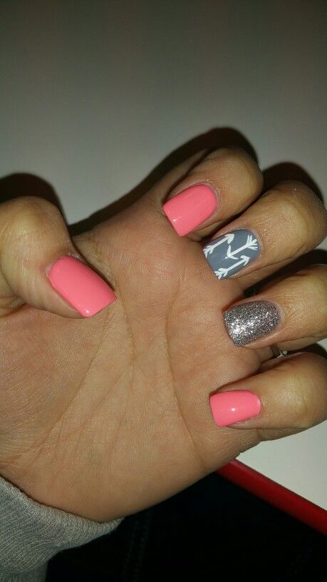 arrow nail design nail art nail salon irvine newport beach