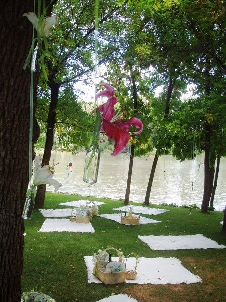Picnic wedding set up idea.... This'd be perfect