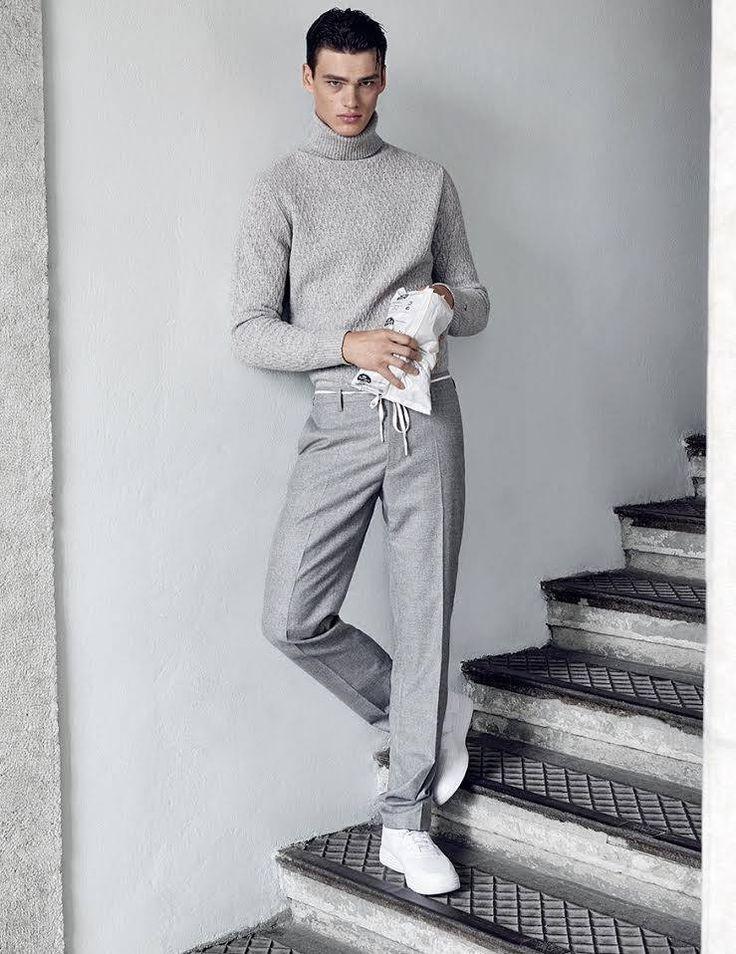 Shades of Grey | Menswear | Knit | Fall15 | Fashion | Vogue | Street Style | Monochrome