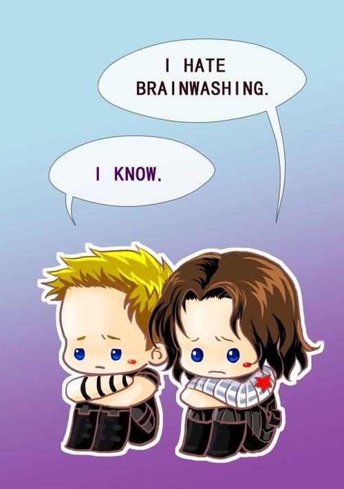 Hawkeye and Bucky