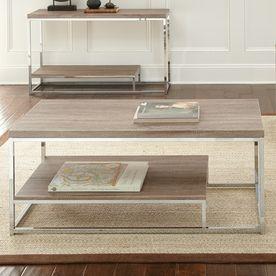 Steve Silver Company Lucia Light Driftwood Grey Rectangular Coffee Table Lu250c