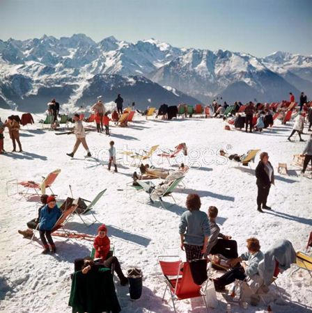 SLIM AARONS   	   View Artist Biography  Title:  Verbier Vacation: Photos, Verbier Vacation, Winter, Verbiervacation, Art, Vacations, Place, Smart Aarons
