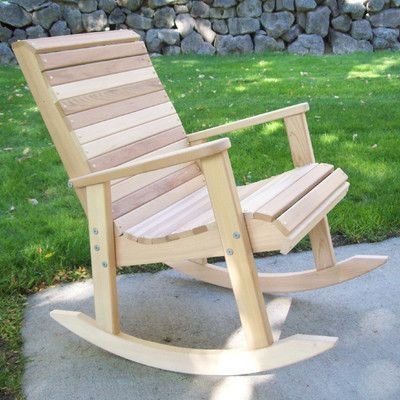 WoodCountry T&L Rocking Chair Finish: Unstained