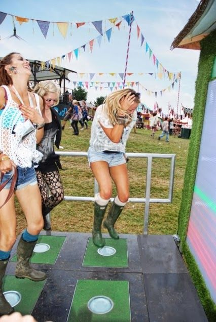 Pavagen Tile being used to charge phones at Bestival