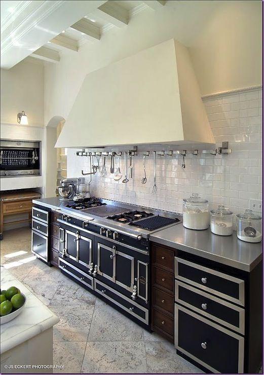 js eckert photography lovely european kitchen design with la cornue range subway tiles backsplash