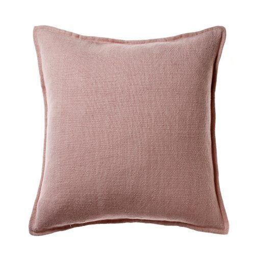 Vintage Washed Linen Cotton Soft Pink Cushion