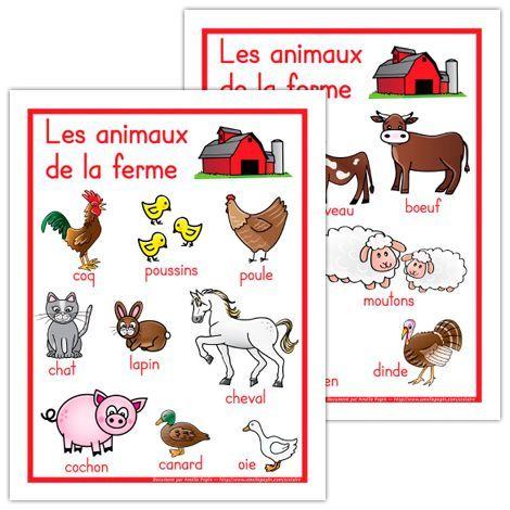 Affiches, les animaux de la ferme