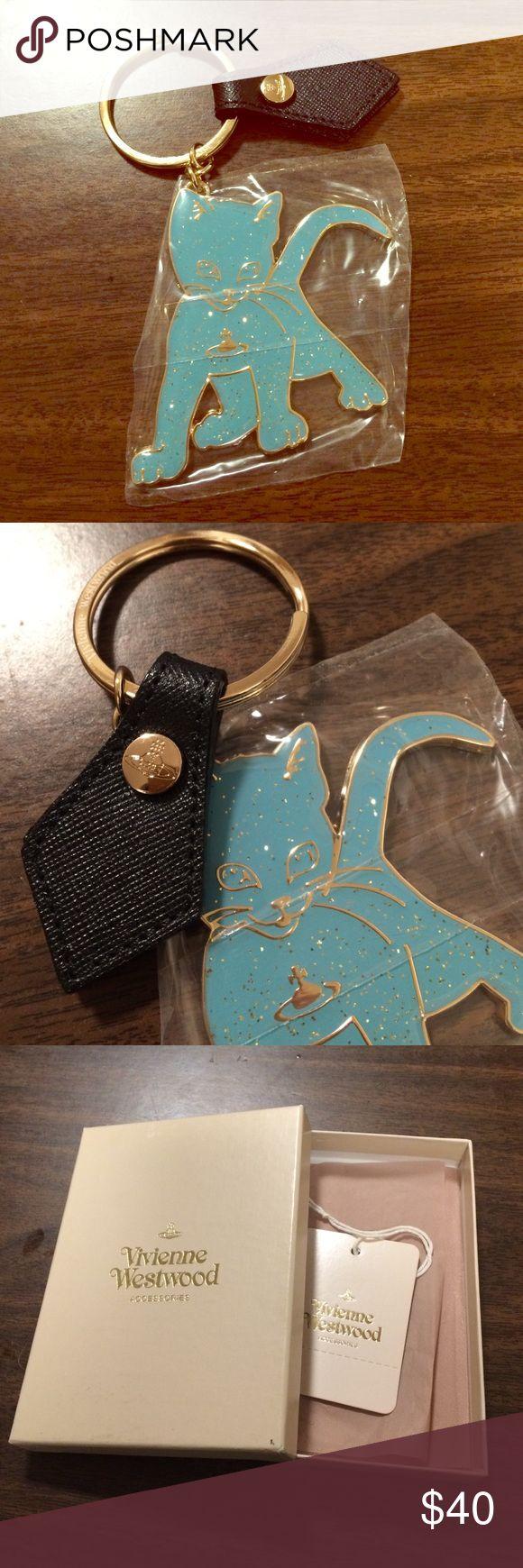 Vivienne Westwood keyring Kitten keyring(blue). It's NEW!!! Vivienne Westwood Accessories Key & Card Holders