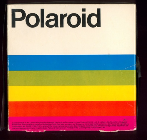 I ♥ Polaroid Rainbow Stripes Branding - AnotherDesignBlog.