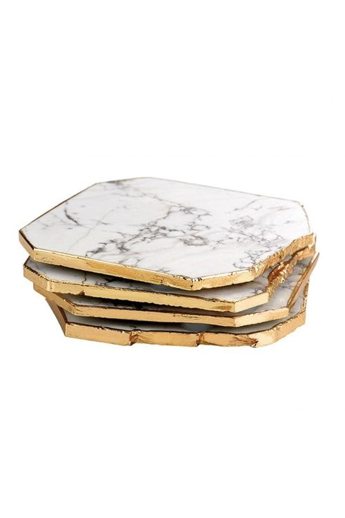 Samantha Wills Has Launched Home Decor White Howlite Marble Coasters